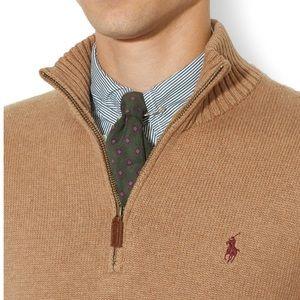 Polo Ralph Lauren Camel Knit Mockneck Sweater